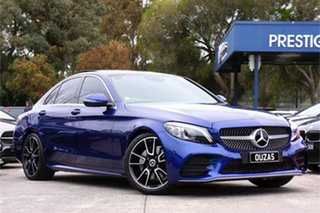 2019 Mercedes-Benz C-Class W205 809MY C200 9G-Tronic Blue 9 Speed Sports Automatic Sedan.