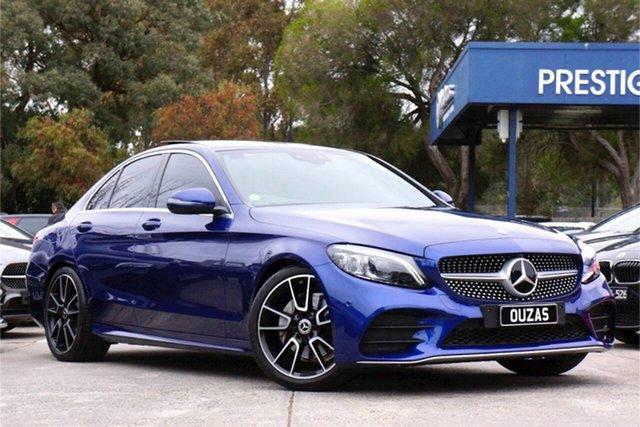 Used Mercedes-Benz C-Class W205 809MY C200 9G-Tronic Balwyn, 2019 Mercedes-Benz C-Class W205 809MY C200 9G-Tronic Blue 9 Speed Sports Automatic Sedan