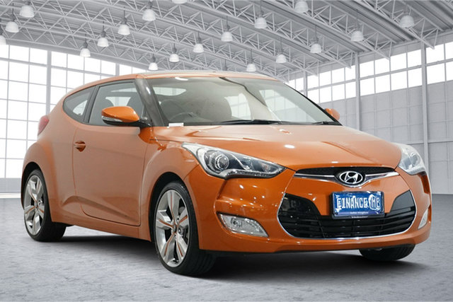 Used Hyundai Veloster FS3 + Coupe D-CT Victoria Park, 2013 Hyundai Veloster FS3 + Coupe D-CT Orange 6 Speed Sports Automatic Dual Clutch Hatchback