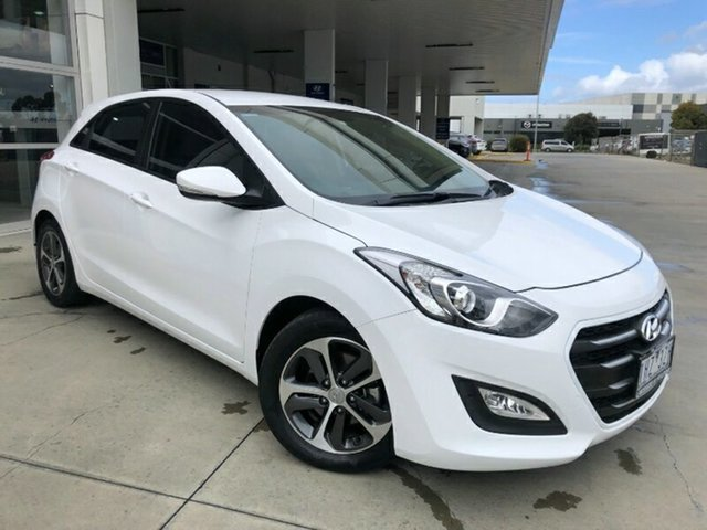Used Hyundai i30 GD4 Series II MY17 Active X Ravenhall, 2016 Hyundai i30 GD4 Series II MY17 Active X Polar White 6 Speed Sports Automatic Hatchback