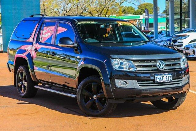 Used Volkswagen Amarok 2H MY15 TDI420 4Motion Perm Highline Attadale, 2014 Volkswagen Amarok 2H MY15 TDI420 4Motion Perm Highline Black 8 Speed Automatic Utility