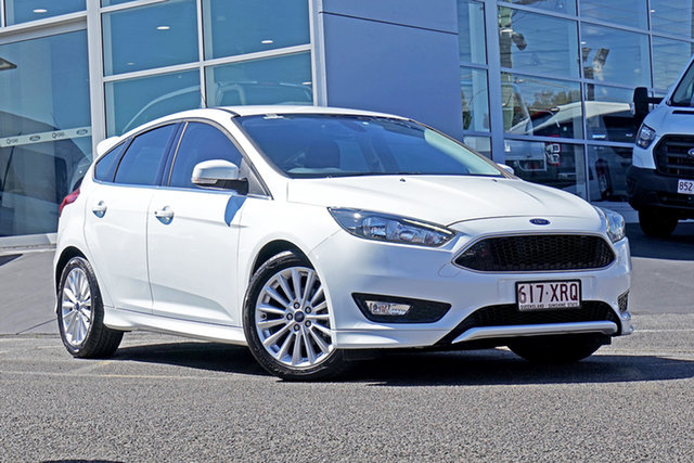 Used Ford Focus LZ Sport Springwood, 2017 Ford Focus LZ Sport White 6 Speed Automatic Hatchback