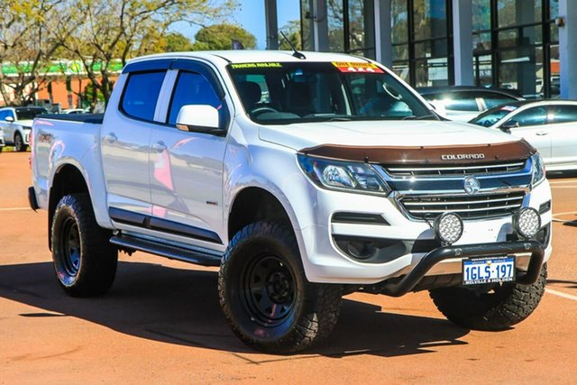 Used Holden Colorado RG MY18 LS Pickup Crew Cab Attadale, 2017 Holden Colorado RG MY18 LS Pickup Crew Cab White 6 Speed Sports Automatic Utility