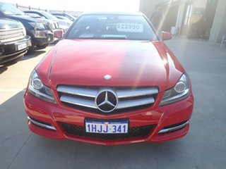 2011 Mercedes-Benz C180 W204 MY11 BE Bright Red 7 Speed Automatic G-Tronic Coupe.