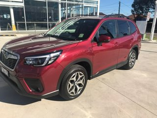 2021 Subaru Forester S5 MY21 2.5i CVT AWD Crimson Red 7 Speed Constant Variable Wagon.