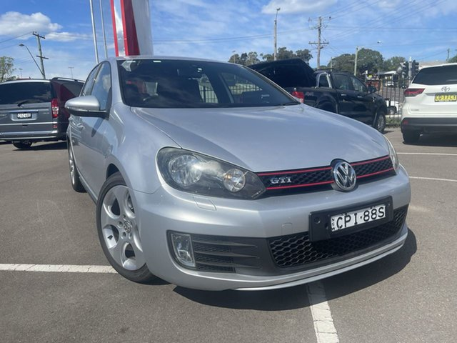 Pre-Owned Volkswagen Golf VI MY13 GTI DSG Cardiff, 2012 Volkswagen Golf VI MY13 GTI DSG Silver 6 Speed Sports Automatic Dual Clutch Hatchback