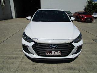 2017 Hyundai Elantra AD MY18 SR DCT Turbo White 7 Speed Sports Automatic Dual Clutch Sedan.