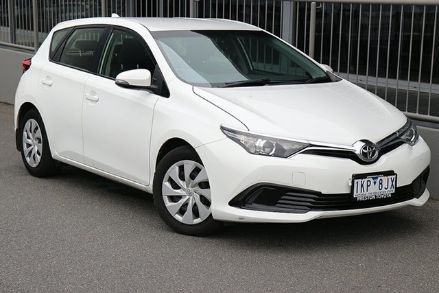 Pre-Owned Toyota Corolla ZRE182R Ascent S-CVT Preston, 2015 Toyota Corolla ZRE182R Ascent S-CVT White 7 Speed Constant Variable Hatchback