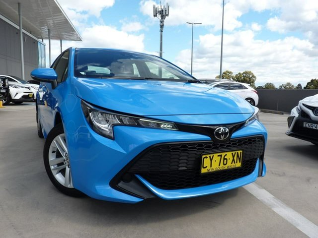 Pre-Owned Toyota Corolla Mzea12R Ascent Sport Blacktown, 2020 Toyota Corolla Mzea12R Ascent Sport Eclectic Blue 10 Speed Constant Variable Hatchback