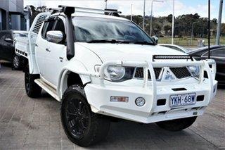 2011 Mitsubishi Triton MN MY11 GLX-R Double Cab White 5 Speed Manual Utility.