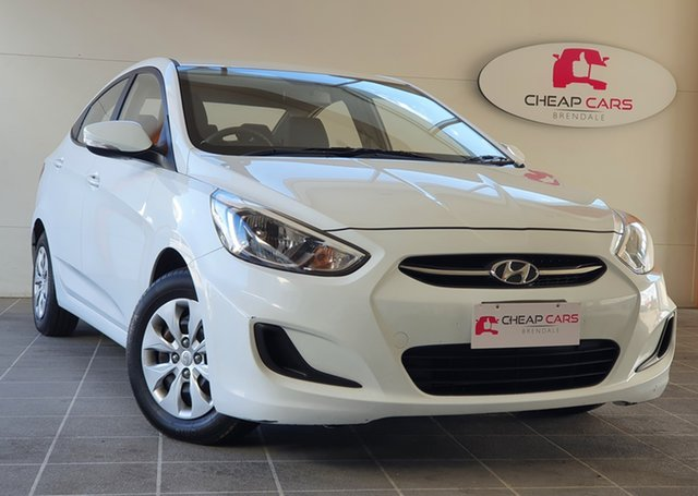 Used Hyundai Accent RB2 MY15 Active Brendale, 2015 Hyundai Accent RB2 MY15 Active White 6 Speed Manual Sedan