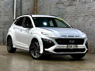 2021 Hyundai Kona Os.v4 MY21 N-Line D-CT AWD White 7 Speed Sports Automatic Dual Clutch Wagon.