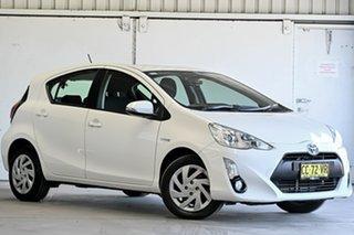 2015 Toyota Prius c NHP10R E-CVT White 1 Speed Constant Variable Hatchback Hybrid.