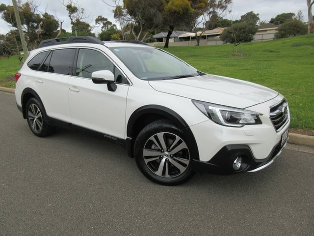 Used Subaru Outback B6A MY18 2.5i CVT AWD Premium Reynella, 2018 Subaru Outback B6A MY18 2.5i CVT AWD Premium White 7 Speed Constant Variable Wagon