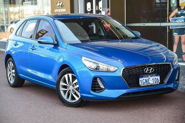 Used Hyundai i30 PD MY18 Active Osborne Park, 2018 Hyundai i30 PD MY18 Active Blue 6 Speed Sports Automatic Hatchback