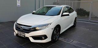 2016 Honda Civic MY16 VTi-LX White Continuous Variable Sedan.