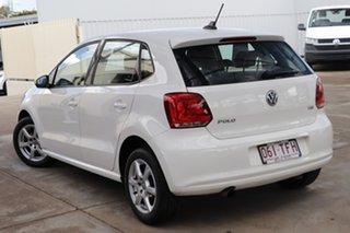 2013 Volkswagen Polo 6R MY13.5 77TSI DSG Comfortline Candy White 7 Speed.