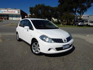2013 Nissan Tiida C11 Series 4 ST White 4 Speed Automatic Hatchback.