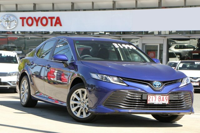 Pre-Owned Toyota Camry Axvh70R Ascent North Lakes, 2020 Toyota Camry Axvh70R Ascent Lunar Blue 6 Speed Constant Variable Sedan Hybrid