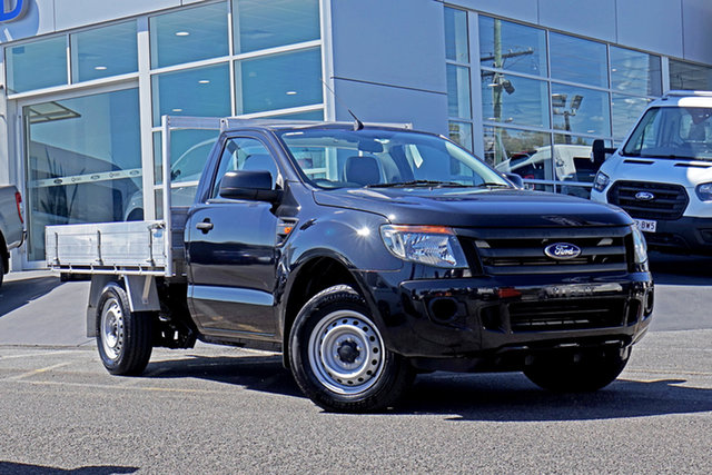 Used Ford Ranger PX XL Springwood, 2014 Ford Ranger PX XL Black 6 Speed Manual Cab Chassis