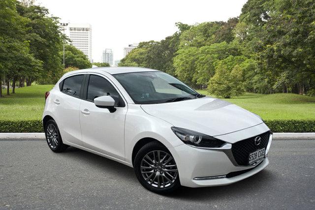 Used Mazda 2 DJ2HAA G15 SKYACTIV-Drive Evolve Paradise, 2020 Mazda 2 DJ2HAA G15 SKYACTIV-Drive Evolve White 6 Speed Sports Automatic Hatchback