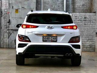 2021 Hyundai Kona Os.v4 MY21 N-Line D-CT AWD White 7 Speed Sports Automatic Dual Clutch Wagon