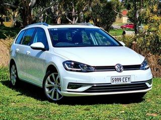 2019 Volkswagen Golf 7.5 MY19.5 110TSI DSG Highline White 7 Speed Sports Automatic Dual Clutch Wagon.