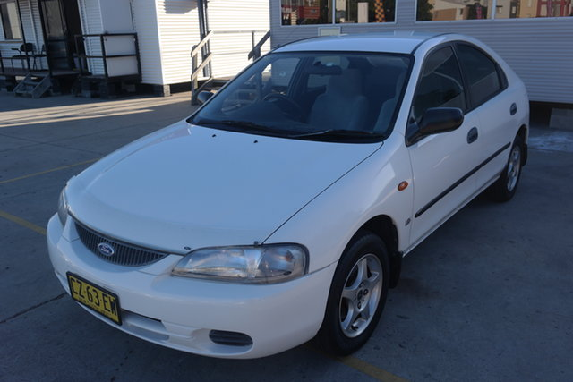 Used Ford Laser KJ III (KM) GLXi Maryville, 1997 Ford Laser KJ III (KM) GLXi White 5 Speed Manual Hatchback
