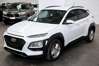 2017 Hyundai Kona OS MY18 Active D-CT AWD White 7 Speed Sports Automatic Dual Clutch Wagon.