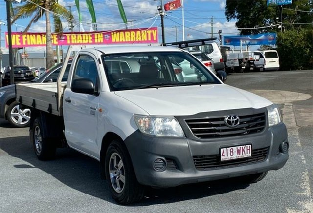 Used Toyota Hilux TGN16R Workmate Archerfield, 2012 Toyota Hilux TGN16R Workmate White 5 Speed Manual Cab Chassis