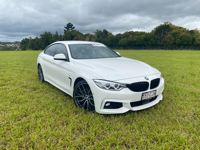 Pre-Owned BMW 430i F36 MY16.5 Gran Coupe M Sport Innisfail, 2016 BMW 430i F36 MY16.5 Gran Coupe M Sport White 8 Speed Automatic Coupe