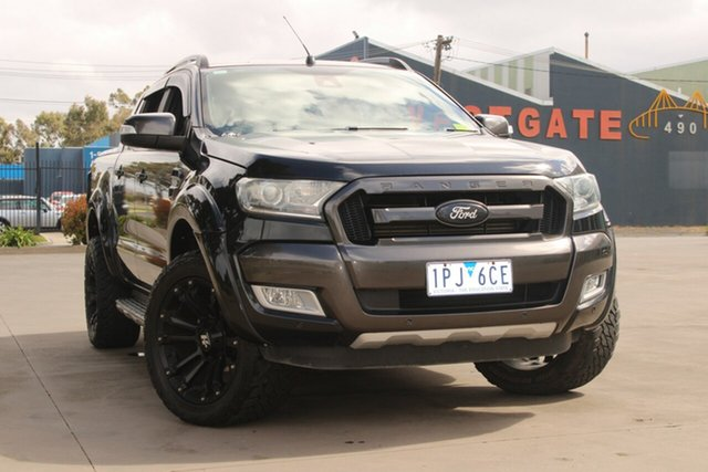 Used Ford Ranger PX Wildtrak 3.2 (4x4) West Footscray, 2015 Ford Ranger PX Wildtrak 3.2 (4x4) Dark Grey 6 Speed Automatic Crew Cab Utility