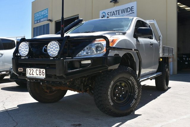 Used Mazda BT-50 MY13 XT (4x4) Capalaba, 2014 Mazda BT-50 MY13 XT (4x4) Silver 6 Speed Manual Freestyle Cab Chassis