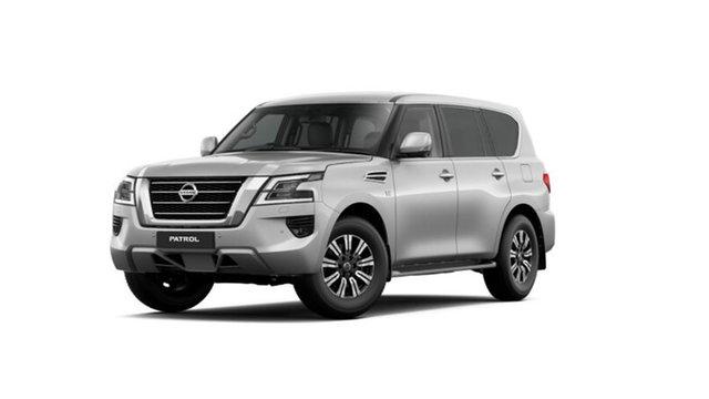 New Nissan Patrol Y62 MY21 TI Hamilton, 2021 Nissan Patrol Y62 MY21 TI Brilliant Silver 7 Speed Sports Automatic Wagon