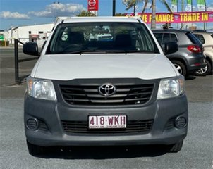 2012 Toyota Hilux TGN16R Workmate White 5 Speed Manual Cab Chassis.