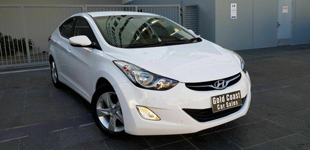 Used Hyundai Elantra MD2 Elite Southport, 2013 Hyundai Elantra MD2 Elite White 6 Speed Automatic Sedan