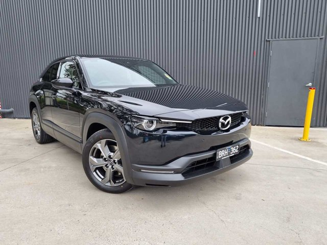 Demo Mazda MX-30 M30A E35 Astina Mornington, 2021 Mazda MX-30 MX-30 E35 Astina Jet Black 1 Speed Automatic Wagon