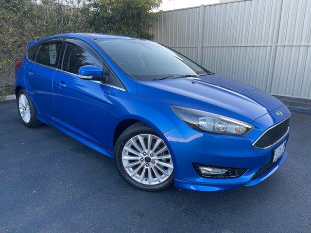 Used Ford Focus LZ Sport Devonport, 2016 Ford Focus LZ Sport Blue 6 Speed Manual Hatchback