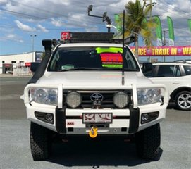 2013 Toyota Landcruiser VDJ200R GX White 6 Speed Sports Automatic Wagon.