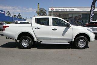 2015 Mitsubishi Triton MQ MY16 GLX Double Cab White 5 Speed Sports Automatic Utility.