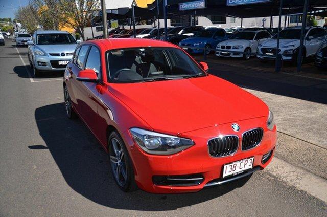 Used BMW 118i F20 Sport Line Toowoomba, 2013 BMW 118i F20 Sport Line Red 8 Speed Automatic Hatchback