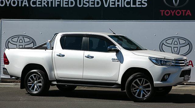 Pre-Owned Toyota Hilux GUN126R MY17 SR5 (4x4) Warwick, 2017 Toyota Hilux GUN126R MY17 SR5 (4x4) Crystal Pearl 6 Speed Automatic Dual Cab Utility