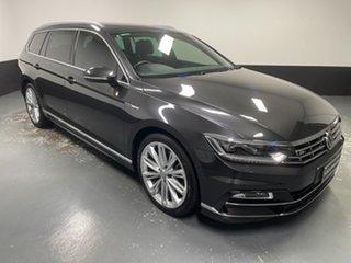 2017 Volkswagen Passat 3C (B8) MY18 206TSI DSG 4MOTION R-Line Manganese Grey Metallic 6 Speed.