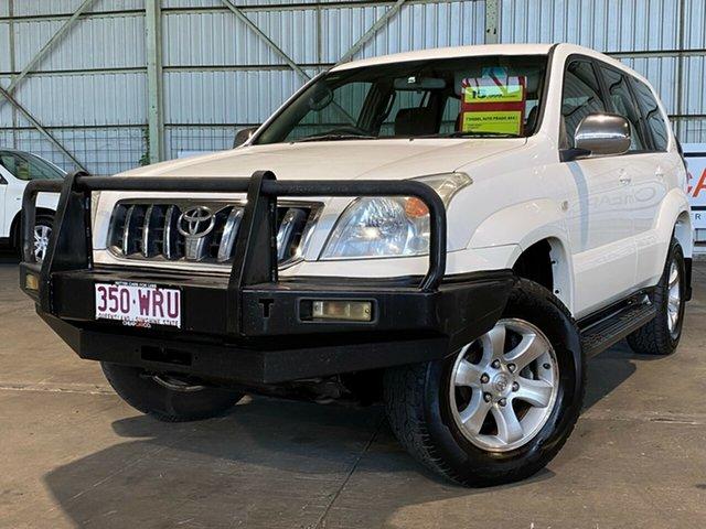 Used Toyota Landcruiser Prado KZJ120R GXL Rocklea, 2004 Toyota Landcruiser Prado KZJ120R GXL White 4 Speed Automatic Wagon