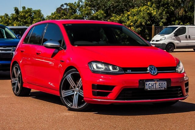Used Volkswagen Golf VII MY17 R DSG 4MOTION Cannington, 2017 Volkswagen Golf VII MY17 R DSG 4MOTION Red 6 Speed Sports Automatic Dual Clutch Hatchback
