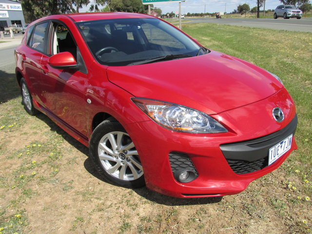 Used Mazda 3 BL10F2 MY13 Maxx Activematic Sport Echuca, 2013 Mazda 3 BL10F2 MY13 Maxx Activematic Sport Red 5 Speed Sports Automatic Hatchback