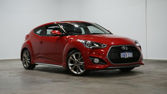 Used Hyundai Veloster FS4 Series II SR Coupe D-CT Turbo + Welshpool, 2016 Hyundai Veloster FS4 Series II SR Coupe D-CT Turbo + Red 7 Speed Sports Automatic Dual Clutch