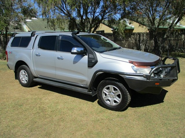 Used Ford Ranger PX XLT Double Cab Kippa-Ring, 2012 Ford Ranger PX XLT Double Cab Silver 6 Speed Sports Automatic Utility