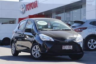 2017 Toyota Yaris NCP130R Ascent Black 4 Speed Automatic Hatchback.