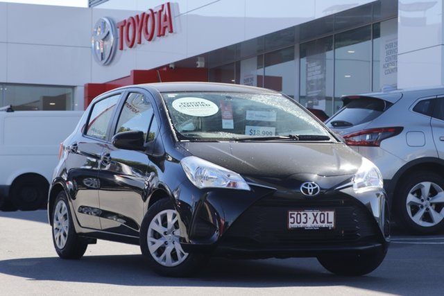 Used Toyota Yaris NCP130R Ascent Woolloongabba, 2017 Toyota Yaris NCP130R Ascent Black 4 Speed Automatic Hatchback